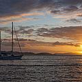 Bvi Sunset by Adam Romanowicz