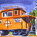 Caboose With Silver Signal by Kip DeVore