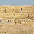 Caesarea Israel Ancient Colosseum by Robert Birkenes