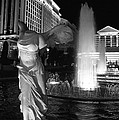Caesars Fountain Bw by Jenny Hudson
