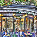 Cafe Flore In Summer by Matthew Bamberg