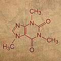 Caffeine Molecule Coffee Fanatic Humor Art Poster by Design Turnpike