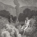 Cain And Abel Offering Their Sacrifices by Gustave Dore