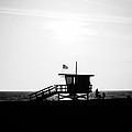 California Lifeguard Stand In Black And White by Paul Velgos