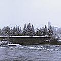 Canada Island And Spokane River by Daniel Hagerman