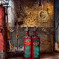 Car - Station - Gas Pumps Print by Mike Savad