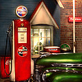 Car - Station - White Flash Gasoline by Mike Savad
