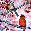 Cardinals  by Zaira Dzhaubaeva