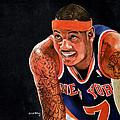 Carmelo Anthony - New York Knicks by Michael  Pattison
