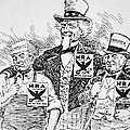 Cartoon Depicting The Impact Of Franklin D Roosevelt  by American School