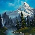 Cascading Falls Print by C Steele