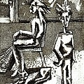 Cat Under Chair by Genevieve Esson