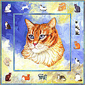 Cats Purrfection Five - Orange Tabby by Linda Mears