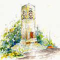 Cenotaph Clock Tower Print by Pat Katz