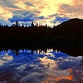 Center Pond Print by Tim  Canwell