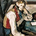 Cezanne, Paul 1839-1906. The Boy by Everett