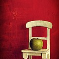 Chair Apple Red Still Life Poster by Edward Fielding