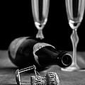 Champagne Bottle Still Life by Edward Fielding