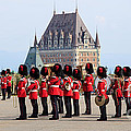 Changing Of The Guard The Citadel Quebec City by Edward Fielding