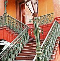 Charleston Staircase Street Lamps Architecture by Kathy Fornal