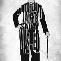 Charlie Chaplin Typography Poster by Ayse Deniz
