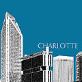 Charlotte Skyline 1 - Steel by DB Artist