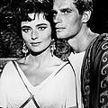 Charlton Heston And Marina Berti by Mountain Dreams