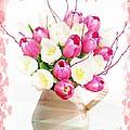 Charming Heart Tulips by Debra  Miller