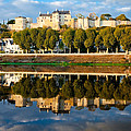 Chateau Above and Below Chinon