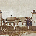 Chatham Twin Lights 1908-18 by Skip Willits