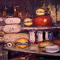 Cheese Shop Window by R W Goetting