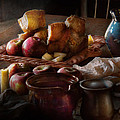 Chef - Food - A tribute to Rembrandt - Apples and Rolls  Print by Mike Savad