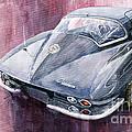 Chevrolet Corvette Sting Ray 1965 Print by Yuriy  Shevchuk