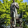 Chicago Abraham Lincoln The Man Standing Statue  Print by Paul Velgos