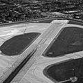 Chicago Airplanes 04 Black And White by Thomas Woolworth