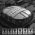 Chicago Bulls Banners In Black And White by Thomas Woolworth