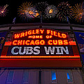 Chicago Cubs Win Fireworks Night by Steve Gadomski