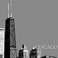 Chicago Hancock Building - Pewter Print by DB Artist