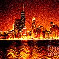 Chicago Hell Digital Painting by Paul Velgos
