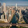 Chicago River Aloft by Steve Gadomski