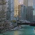 Chicago River Sunset by Jeff Kolker