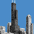 Chicago Sears Tower - Slate Print by DB Artist