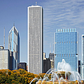 Chicago Skyline From Millenium Park Iv by Christine Till
