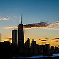 Chicago Skyline Silhouette Print by Steve Gadomski