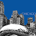 Chicago The Bean - Royal Blue by DB Artist