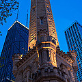 Chicago Water Tower Panorama by Steve Gadomski