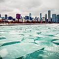 Chicago Winter Skyline by Paul Velgos