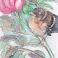 Chickadee and a Rose