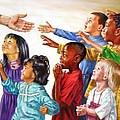 Children Coming To Jesus by John Lautermilch