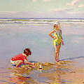 Children On The Beach by Charles-Garabed Atamian